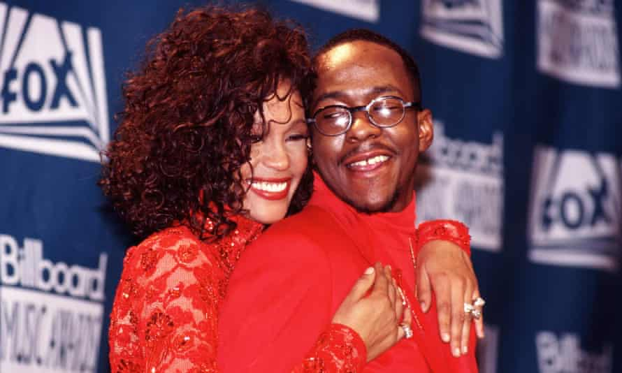 Whitney Houston and Bobby Brown in 1993.