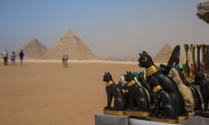Souvenirs for sale at the Pyramids of Giza