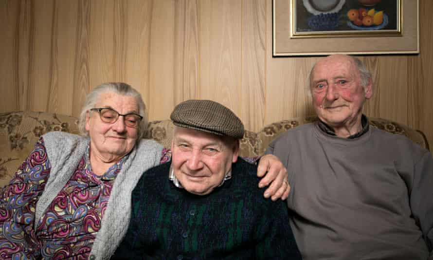 Jefkae Harbant, centre, was given a home with Maria Lenaerts and Jules Teunckens in the Belgian town of Geel.
