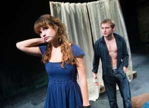 Lily James and Joseph Drake in The Seagull at Southwark Playhouse, directed by Russell Bolam (2012)