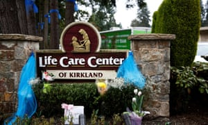 The Life Care Center in Kirkland, where an early coronavirus outbreak was reported.