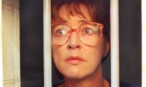 Deirdre (Anne Kirkbride) behind bars in Coronation Street.