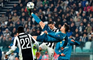 Ronaldo attempts the spectacular and succeeds.
