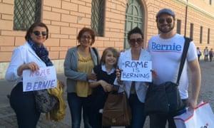 Bernie Sanders fans at the Vatican.