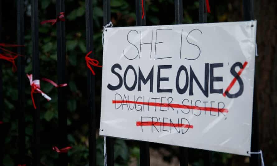 A placard protesting against 'rape culture'.