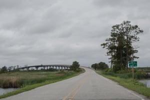 Entering Hyde County, North Carolina.