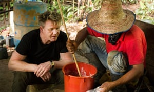 The chef learns how to make cocaine in Colombia in Gordon Ramsay on Cocaine.
