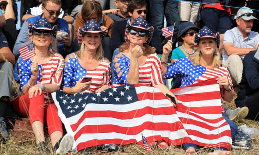 Fans of Team USA travelled to France for the Ryder Cup in 2018.