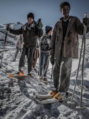 Students at the Bamyan Ski School