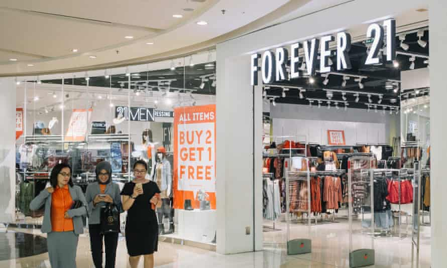 A branch of Forever 21 in Jakarta, Indonesia.