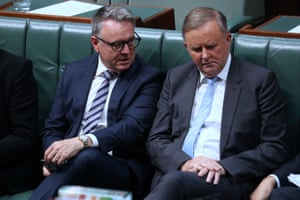 Anthony Albanese and Joel Fitzgibbon during question time