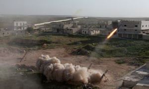 Syrian rebels fire on an Aleppo neighbourhood controlled by the Kurdish PYD.