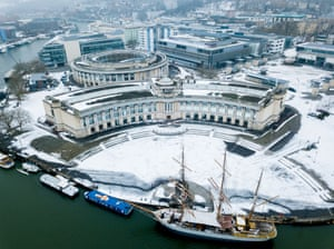 Snowy Lloyds Bank headquarters