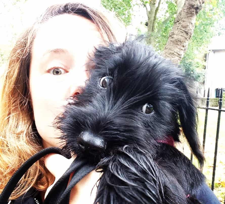 Eleanor with her cockapoo, Pamela