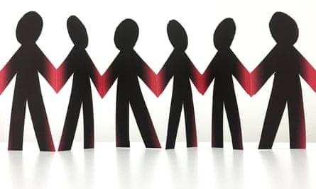 long read joint enterprise paper cut-out people