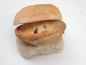 A pie barm, from Galloways bakers, Wigan