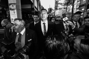 Israel Folau attends a Fair Work Commission hearing in June