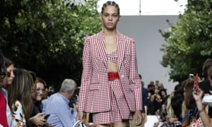 American-pie inspired collection served up via blazers, wicker handbags and gingham bralets.