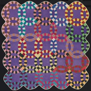 Double Wedding Ring Quilt by unknown artist, Missouri, about 1940