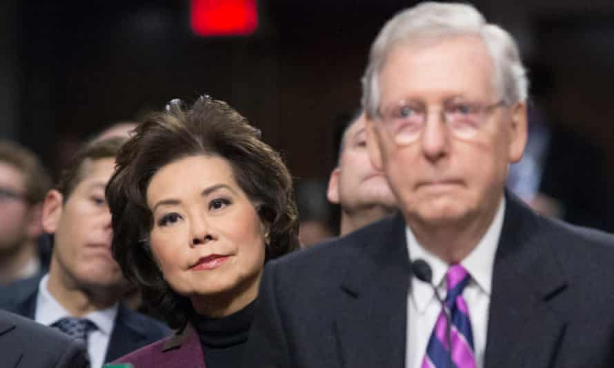 Elaine Chao with her husband, Senate minority leader Mitch McConnell.