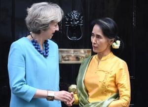 Speaking on the doorstep of No 10