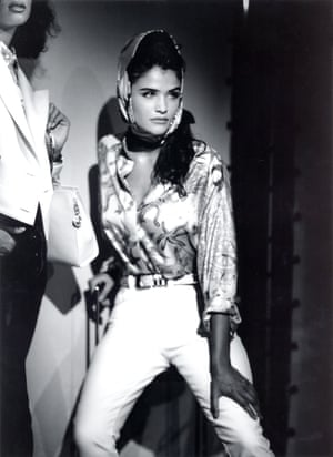 ... Helena Christensen modelling for Versace in 1991