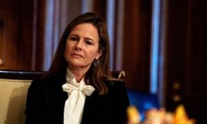 Judge Amy Coney Barrett. Photograph: Demetrius Freeman/Reuters