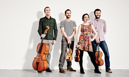 Irresistibly upbeat … the Heath Quartet.