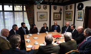 Theresa May meets with agricultural producers at the Royal Welsh Winter Fair