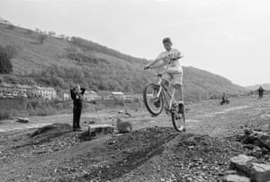Six Bells. Children's fun on site of old colliery. 1994