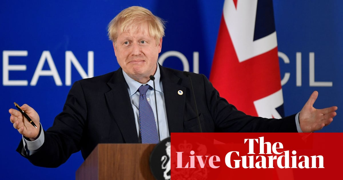 Brexit: Johnson urged to win over ERG by confirming no deal still possible – live news