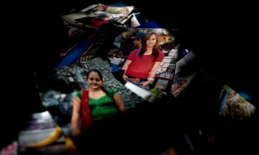 Pictures of missing women submitted to Mati Nepal, a Kathmandu-based NGO, which works to protect victims of human trafficking