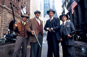 Andy Garcia, Sean Connery, Kevin Costner and Charles Martin Smith in The Untouchables, 1987.