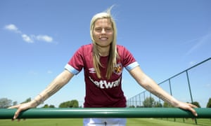 The defender Gilly Flaherty has joined West Ham from Chelsea.