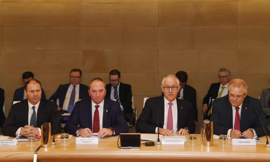 Josh Frydenberg, Barnaby Joyce, Malcolm Turnbull and Scott Morrison