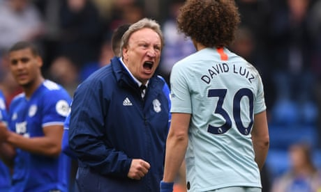 Neil Warnock 'sickened' by officials' decisions as Cardiff lose to Chelsea