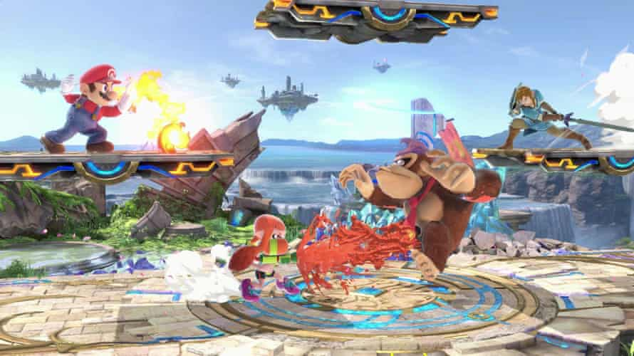 Mario and Donkey Kong , among others, in a screenshot of Super Smash Bros Ultimate.