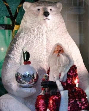 Selfridges Christmas windows unveiled, London, UK