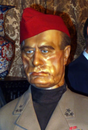 Waxwork of Benito Mussolini Louis Tussauds House of Wax Museum, Great Yarmouth, Norfolk, Britain