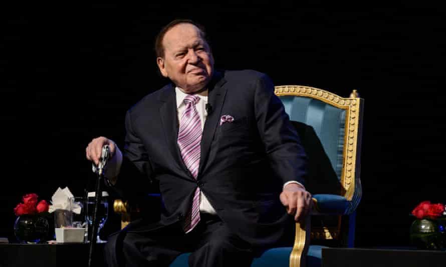 Sheldon Adelson in Las Vegas on 13 September 2016.