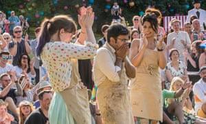 Kim-Joy and fellow finalist Ruby Bhogal applaud winner Rahul Mandal.