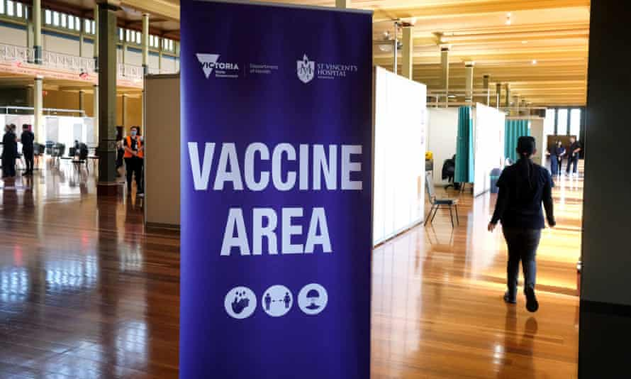 Victoria opened mass Covid vaccination centres last month, but one nurse says few people are turning up to get their jabs