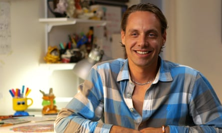 Matt Furie, pictured while filming Feels Good Man