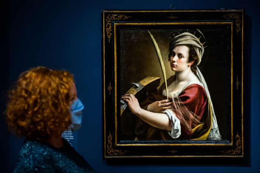 'There are great artists who were also mothers' ... part of the Italian painter Artemisia Gentileschi's Self-Portrait as Saint Catherine of Alexandria.