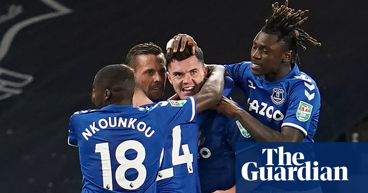 Everton gain a head start from Michael Keane as they ease past Salford