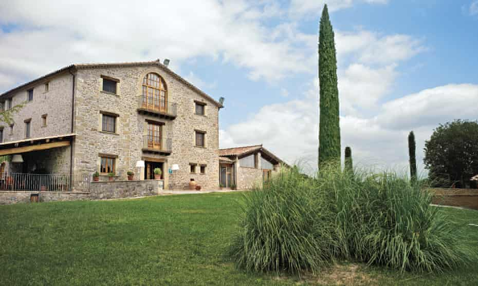 Exterior of the farmhouse at Els Casals, northern Catalonia, which offers accommodation and rustic local food.