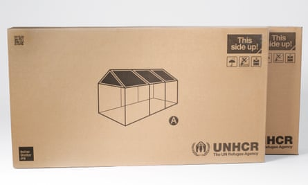 No missing parts … the shelter in flat-pack form