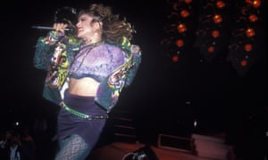 Madonna performing in New York City in 1985.