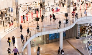 People shop at Chadstone the Fashion Capital during Boxing Day sales on 26 December 2020 in Melbourne, Australia.