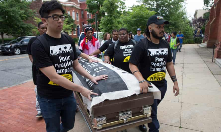 Poor People's Campaign holds a protest on Capitol Hill to demand healthcare and a healthy environment04 June 2018.